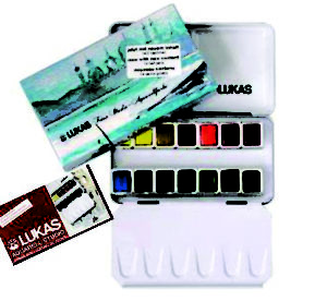 LUKAS Studio Watercolours Sets and Wet Adhesive Tape