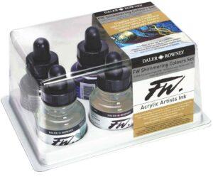 FW Transparent Fluid Acrylic Ink Sets