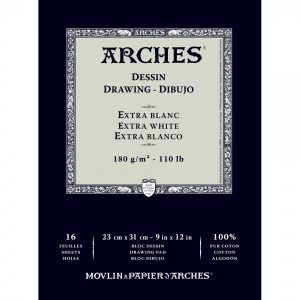 ARCHES® Extra White Drawing Pads