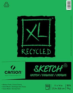 Canson® XL® Recycled Sketch Pads (50lbs./74g.)