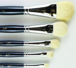 SERIES 227 HJ White Goat Hair Mop Brush - Oval