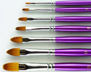SERIES 620 HJ Gold Sable® Brush with Mauve Handle - Cat's Tongue