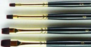 SERIES 696 HJ Interlon Nylon Hair Brush - Chisel Blender