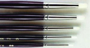SERIES 985 HJ White Nylon Bristle Fabric Brush - Round