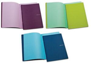 EcoQua Colore Stapled Notebooks - A5 (14.8cm x 21cm)